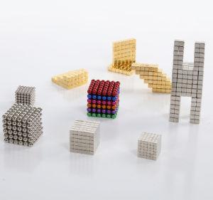 Los titulares de la plaza multiusos magnéticos imanes de cubo Toy rompecabezas bloque magnético Cubo mágico de la educación de metal juguetes 3X3X3mm
