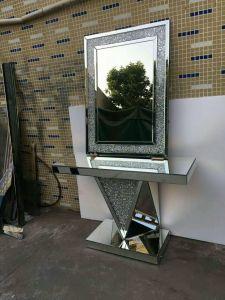 최신 디자인 호화스러운 으깸 다이아몬드를 가진 결정에 의하여 비치는 콘솔 테이블