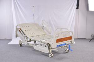 ICU Krankenhaus-Geräten-manuelles Krankenhaus-Bett 3crank
