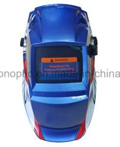 ステッカーの印刷表面の自動暗くなる溶接のヘルメット(BSW-001-7T)
