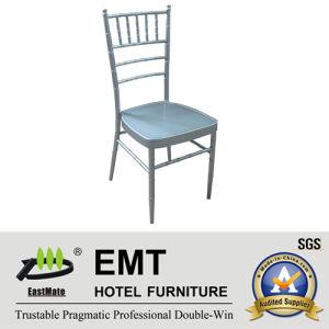 Empilage de métal de couleur argent chaise Banquet (EMT-809-d'argent)