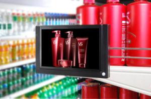 7 인치는 전시를 광고하는 POS 승진 LCD를 소매한다