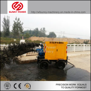 관개 쓰레기 물 그림을%s 움직일 수 있는 디젤 엔진 수도 펌프
