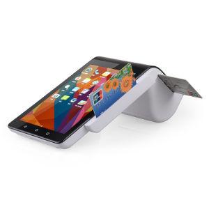 7 Zoll-Screen-Doppelbildschirmanzeige-Barcode-Scanner Bluetooth Thermodrucker WiFi 4G Scheckkarte-Leser aller Android 5.1 in der Positions-Terminalmaschine PT7003