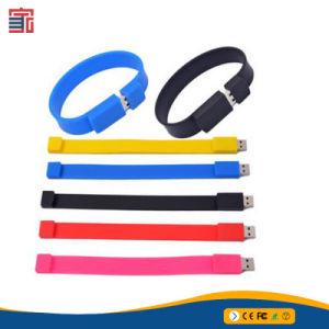 Самый дешевый запястья силиконового каучука диск 8 ГБ браслет флэш-накопитель USB
