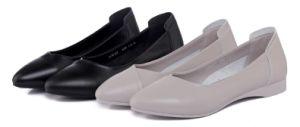 Otoño 2017 zapatos de cuero auténtico para la mujer zapatos negros para las mujeres cómodo al por mayor zapatos Dama zapatos planos