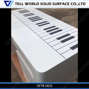 سطح عال لامعة بيضاء يحنى [أفّيس دسك] مكتب طاولة