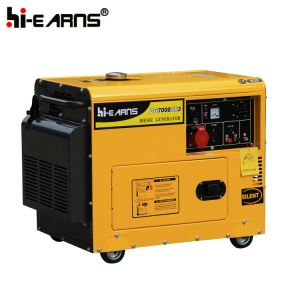 Tipo silenzioso raffreddato ad aria gruppo elettrogeno diesel a tre fasi (DG7500SE3)