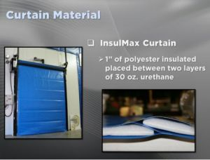 Hochgeschwindigkeits-Belüftung-Rollenblendenverschluss-Kaltlagerungs-Tür mit Stahlrahmen
