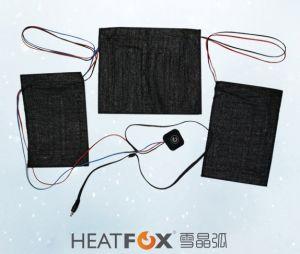 Tube de chauffage à infrarouge lointain dans les pièces de chauffage électrique 3-pièces infrarouge lointain du panneau de l'élément chauffant pour les vêtements et d'usure