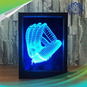 ホーム装飾のクリスマスのギフトのためのリモート・コントロールの写真フレーム3D LED夜ライト7カラーLED夜ライト卓上スタンド