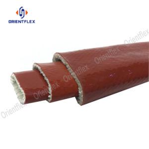 25mm trançado de fibra de vidro revestidos de borracha de silicone Luva de Incêndio
