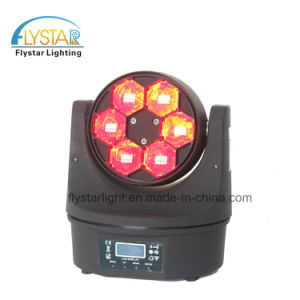 6*15W RGBW LEDのディスコの移動ヘッド軽い小型蜂の目
