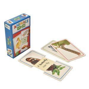 Faites glisser l'animal et apprendre les cartes Flash interactive boîte cadeau