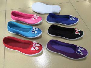 La Dama de alta calidad Zapatos Zapatos de lona de PVC de inyección Py180609-16