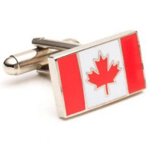 Fabrik-Großverkauf-kundenspezifischer Kanada-Markierungsfahnen-Decklackmens-Manschettenknopf für Dekoration als Geschäfts-Geschenk (008)