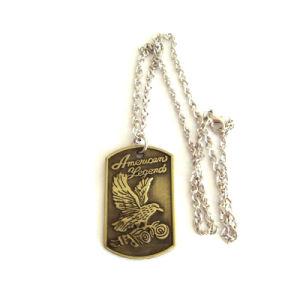 Form-Halskette kundenspezifische Ks Firmenzeichen-Metallfertigkeit-Silber-Hundeplakette (046)