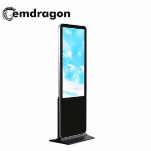 Cadre étroit de 65 pouces piédestal Digital Signage Touch Ad lecteur vidéo de la signalisation numérique LCD 1000 Nit Luminosité affichage sur le mur vidéo LCD écran LED de la publicité de voiture