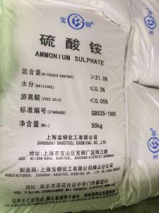Rang N21% van het staal het Sulfaat van het Ammonium van het Kristal