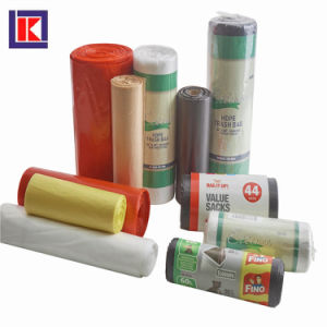 HDPEの平底のロールのプラスチック屑のごみ袋