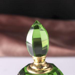 Cristal de color verde Botella de Perfume para regalos de boda