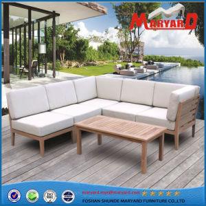 Muebles de jardín de teca de tejido de sofá para Patio