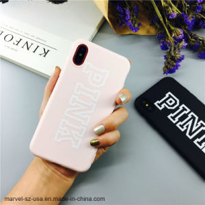 Capot de couleur rose TPU souple en silicone pour iPhone de cas de téléphone