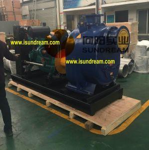 Motor diesel e elétrica de escorva automática da bomba de água de esgoto centrífugos