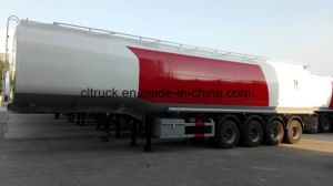 Hochleistungschemischer flüssiger des Tanker-40-60cbm Schlussteil halb mit Traktor