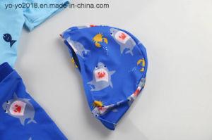 Jonge geitjes van de Haai van de polyester drogen de anti-Uv Hoge Zachte snel de Zwempakken van Kinderen