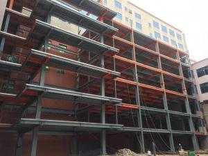 DIP caliente Galvanzied Bastidor de la estructura de acero Edificio Comercial / Sala de Exposiciones Exposición /