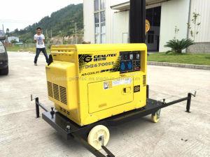 5 КВА дизельный генератор на базе портативных 4X100W светодиодного освещения колонн (GLT400L-5М)