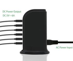 Сертифицированные ETL 5V 6A для настольных ПК зарядной станции для мобильных устройств USB