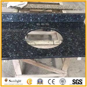 Custom Azul Natural Piedra de granito Perla encimera de cocina