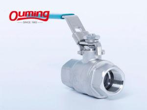 2PC резьбового шарового клапана из нержавеющей стали с сертификат CE