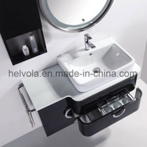 Gesundheitlicher Ware-Badezimmer-Bassin-Zubehör-Schrank-Badezimmer-Möbel-festes Holz Kurbelgehäuse-BelüftungMDF mit Spiegel-Edelstahl-Badezimmer-Eitelkeit 33