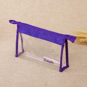 昇進の再使用可能な透過ゆとりPVCプラスチック装飾的な構成のジッパーロック袋