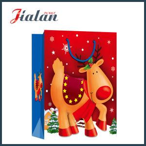 아이보리페이퍼 고요함 크리스마스 밤 쇼핑 선물 종이 봉지를 주문을 받아서 만드십시오
