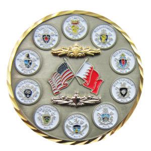Nach Maß Andenken-dekoratives Neuheit-Angestellt-Anerkennungs-Geschenk-Goldgroßhandelssilber-reine Kupfermünzen (098)