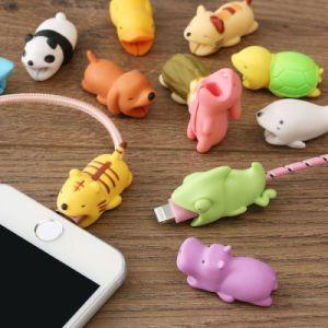 Мультфильм зарядки телефона рампы шнур Cute кабель животных Bite аксессуары подарок