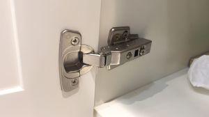 Foshan-Fabrik-Blendenverschluss-Tür-weiße Matt angestrichene festes Holz-Eitelkeit (ACS1-W140)