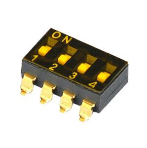 高温抵抗4poles黒いSMDのタイプディップスイッチ