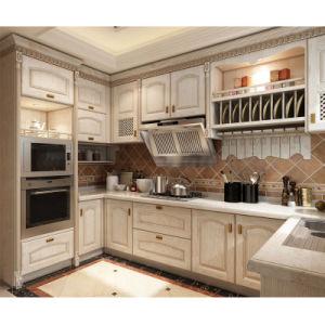 Moderno design personalizado a madeira maciça de armários de cozinha Home mobiliário em madeira (YH-KC1008)