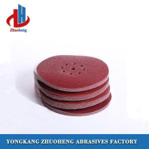 De rode Alumina Schijf van het Document van het Metaal Schurende voor Oppoetsende Stootkussens