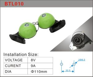 110 dB classique de style japonais vert noir cornes de l'escargot en spirale électrique