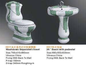 Керамическая роскошь украсила туалет Wc с тазиком постамента и Bidet
