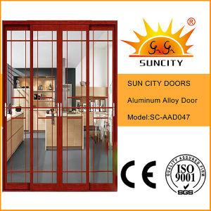 Portello di alluminio di Cheaeper del balcone decorativo economico di vendite (SC-AAD047)