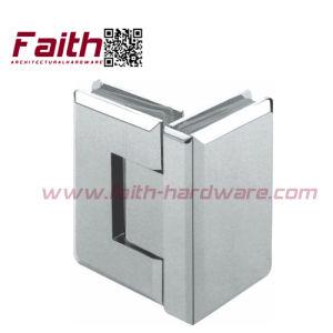 Excelente calidad de bisagra de puerta de cristal de ducha sin cerco (SHB. 90G. BR)