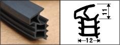 Tür Seal für Steel Door W57r Hochleistungs-