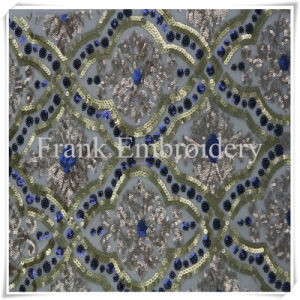 Fiore bordato sul Sequin Embroidery-Flk315